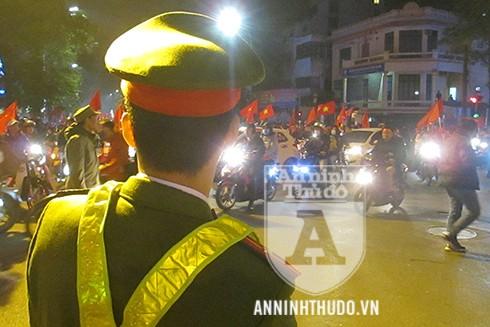 Nhiều lực lượng của CATP Hà Nội đã được triển khai để đảm bảo an ninh trật tự