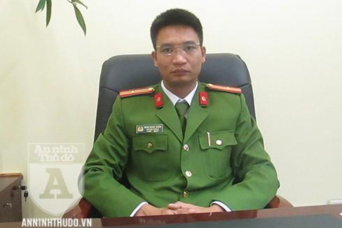 Thiếu tá Đoàn Quang Thắng – Phó Đội trưởng Đội Cảnh sát Hình sự (CSHS), Công an quận Hoàng Mai