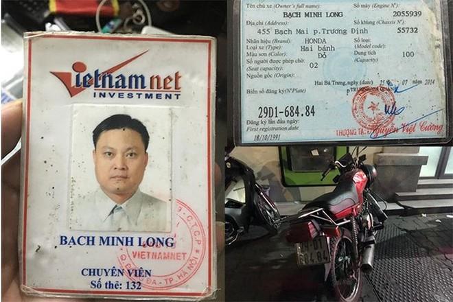 Không xuất trình được giấy tờ xe, người cầm lái còn giơ ra chiếc thẻ giả mạo là chuyên viên của Báo Vietnamnet
