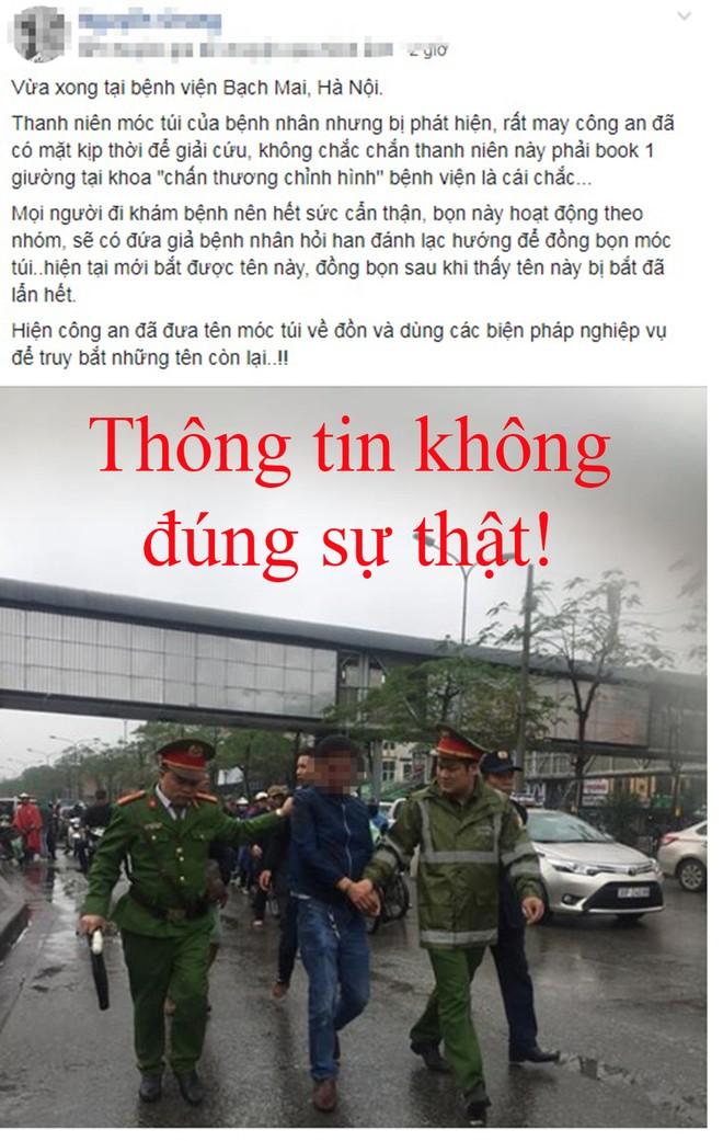 Nội dung thông tin vô căn cứ, không đúng sự thật, được đăng trên MXH Facebook