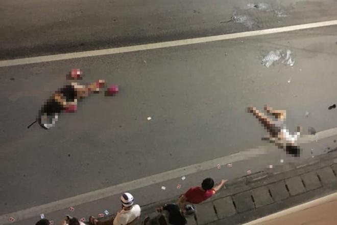 Hiện trường vụ tai nạn giao thông nghiêm trọng trong hầm Kim Liên