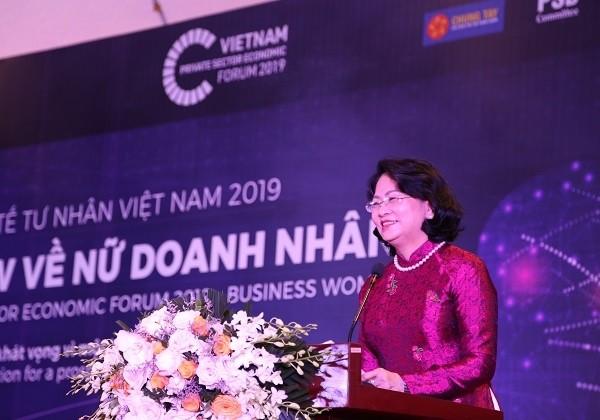 Phó Chủ tịch nước Đặng Thị Ngọc Thịnh phát biểu tại buổi tọa đàm