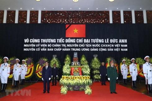 Quang cảnh Lễ truy điệu nguyên Chủ tịch nước, Đại tướng Lê Đức Anh. (Ảnh: Thống Nhất/TTXVN)
