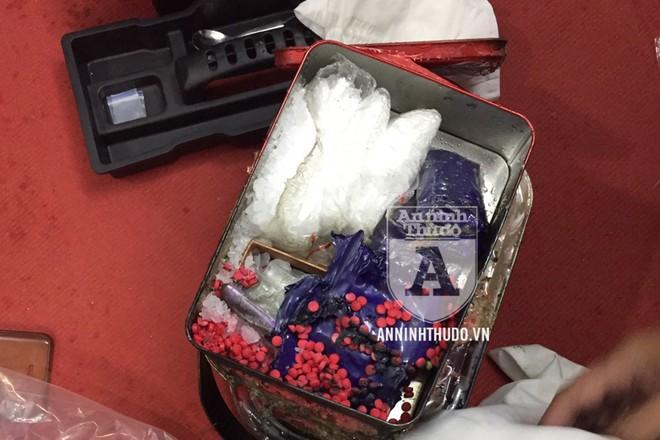 Số ma túy được cơ quan công an thu giữ tại nhà đối tượng Trần Quốc Hoàng
