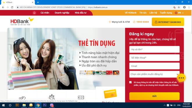 Website mới của HDBank được thiết kế tiện lợi cho người sử dụng
