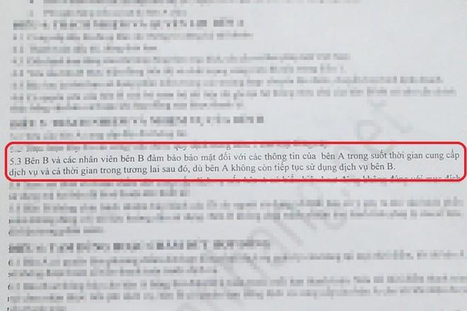 """Cam kết """"đảm bảo bảo mật"""" thông tin trọn đời của EZ Solution - cung cấp dịch vụ maybanhang.net - ghi trong hợp đồng"""