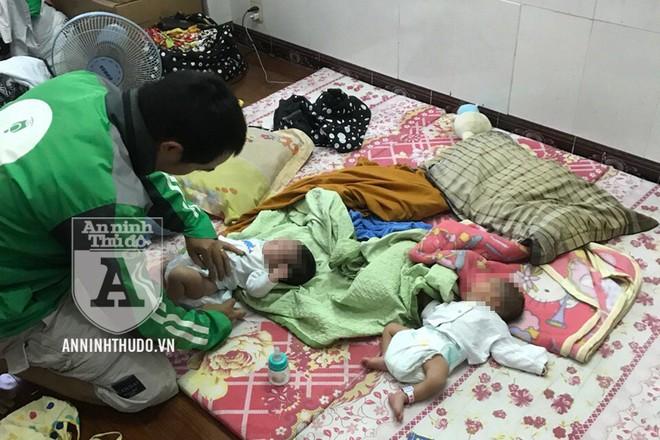 Căn nhà của một đối tượng trong đường dây giấu 2 bé sơ sinh để chuẩn bị mang đi bán