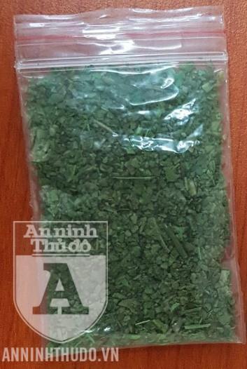 Gói thảo mộc được đối tượng khai là ma túy loại cỏ Mỹ