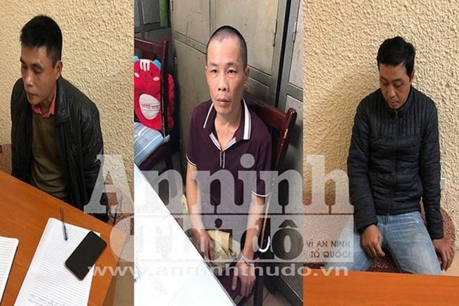 Từ trái qua phải: Đặng Minh Phú, Phạm Ngọc Anh, Đặng Hồng Phương
