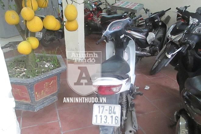 Chiếc xe máy tang vật trong vụ trộm cắp