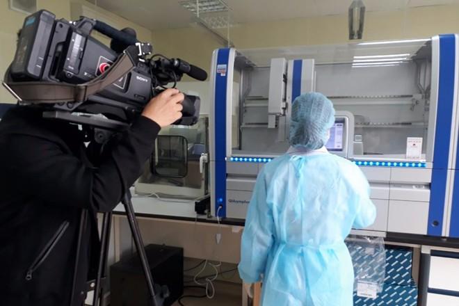 Hình ảnh máy real-time PCR lắp đặt tại Trung tâm kiểm soát bệnh tật - CDC Quảng Ninh