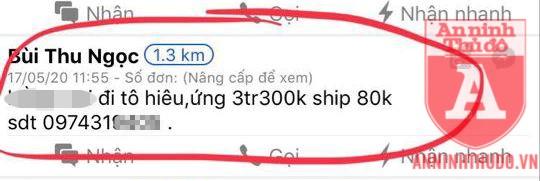 """Bài đăng của kẻ lừa đảo nhằm """"giăng bẫy"""" các shipper"""