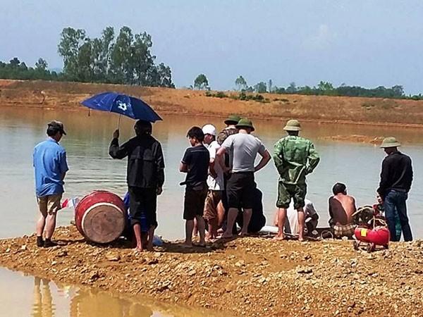 Hiện trường nơi Quang đuối nước khi đi câu cùng bạn