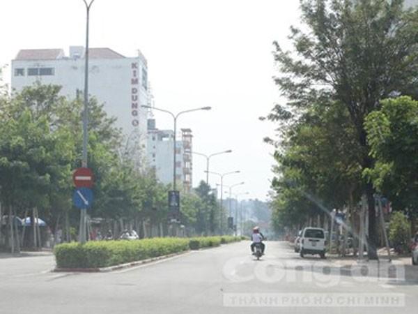 Đoạn đường nơi anh Phú bị bắn