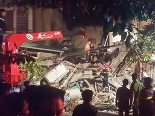 Hiện trường vụ sập nhà ở 43 Cửa Bắc