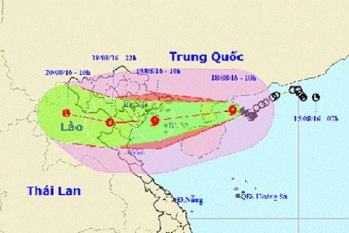 Dự báo hướng di chuyển của bão số 3