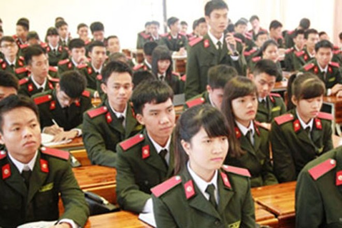 Hệ đại học trong các trường CAND là 4 năm. Học viên được phong quân hàm Thiếu úy khi tốt nghiệp.