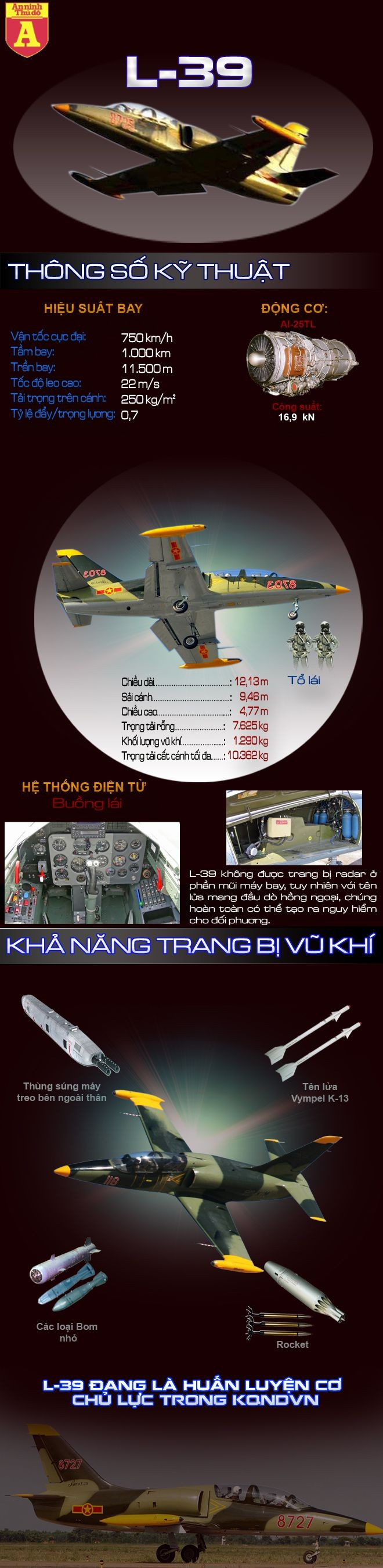 [Infographic] Sức mạnh của chiến đấu cơ L-39 Việt Nam ảnh 2