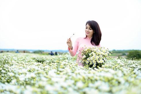 Ra Hà Nội để tổ chức Lễ ra mắt Câu lạc bộ Truyền thông và Du lịch (Media & Tourism Association) trực thuộc Hội Doanh nghiệp trẻ Việt Nam do Mai Thu Huyền làm Phó Chủ tịch, nhưng đúng vào dịp mùa hoa cúc hoạ mi, nên chị đã tranh thủ chụp bộ ảnh này trước khi về lại TP. HCM