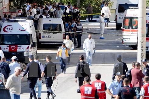Hiện trường một vụ nổ ở Gaziantep ngày 16-10