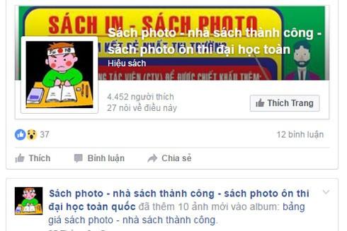 Nhiều tài khoản facekook lập lên để bán sách photo giá rẻ mà không bị kiểm soát