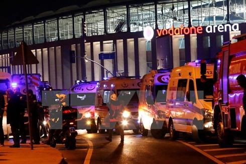 Xe cứu thương được điều động tới hiện trường vụ nổ ở Istanbul