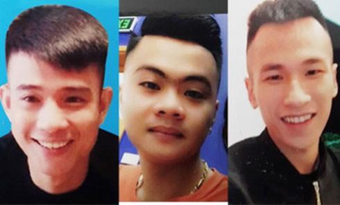 Nghi can Dương Xuân Lập (ảnh giữa) đã bị bắt