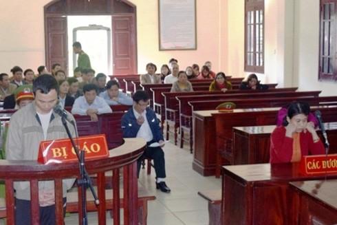 Bị cáo Nguyễn Ngọc Thành tại phiên tòa xét xử