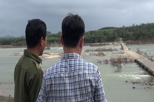 Khu vực cầu tràn Thạch Nham, nơi nạn nhân bị mất tích