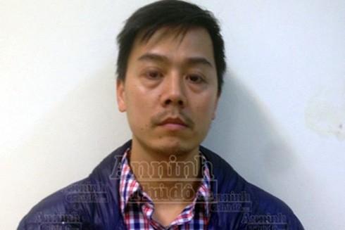 Đối tượng Cao Mạnh Hùng tại Cơ quan điều tra, chiều 16-3