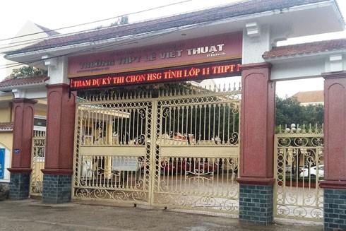 Trường THPT Lê Viết Thuật nơi xảy ra sự việc trên
