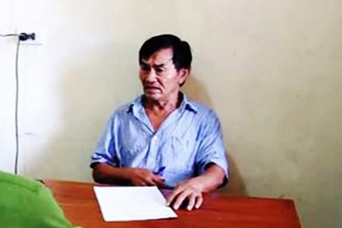 Nguyễn Cảnh Thắng tại cơ quan công an