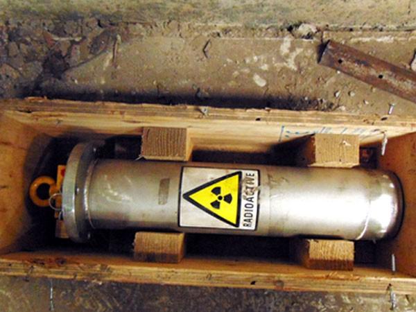 Nguồn phóng xạ bị thất lạc ở Nhà máy thép Pomina 3, tỉnh Bà Rịa - Vũng Tàu. Ảnh: Xuân Mai