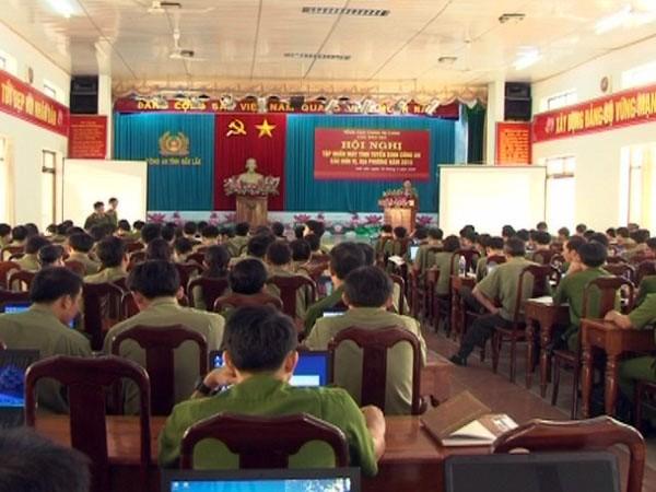 Quang cảnh hội nghị tập huấn công tác tuyển sinh