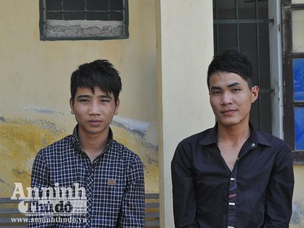 Hai anh em Thuận và Thảo tại cơ quan Công an