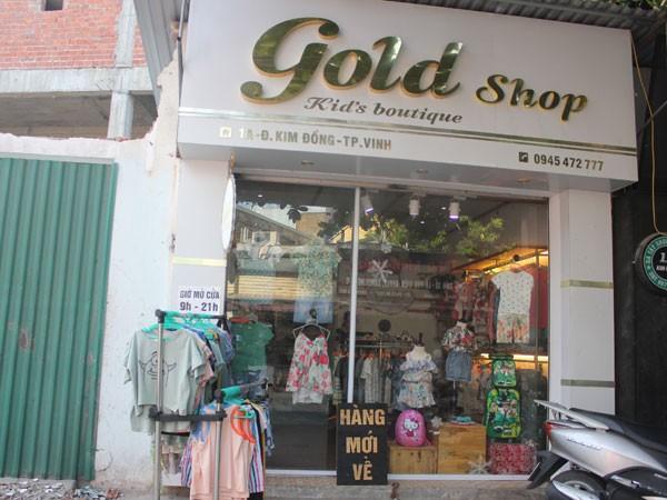 Cửa hàng quần áo nơi xảy ra sự việc