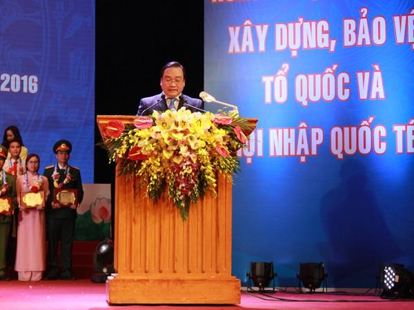 Bí thư Thành ủy Hà Nội Hoàng Trung Hải động viên, giao nhiệm vụ cho tuổi trẻ Thủ đô