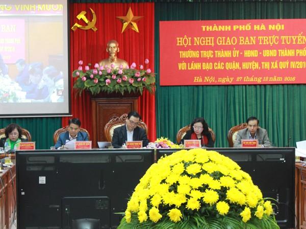 Hội nghị giao ban quý IV/2016 của thành phố Hà Nội