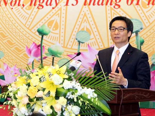 Phó Thủ tướng Chính phủ Vũ Đức Đam phát biểu chỉ đạo hội nghị