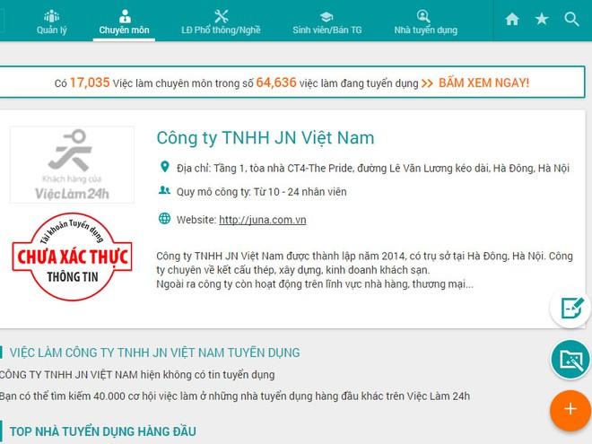 Công ty TNHH JN Việt Nam vừa bị thu hồi giấy phép hoạt động
