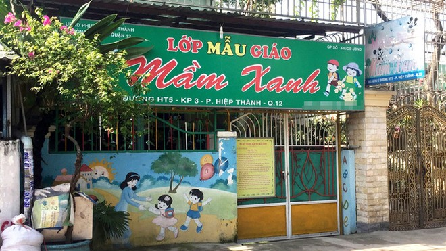 Cơ sở mần non tư thục Mầm xanh đã bị đình chỉ ngay khi có phát hiện các vụ bạo hành trẻ em