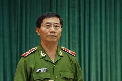 Thiếu tướng Hoàng Quốc Định thông tin về công tác PCCC trên địa bàn TP Hà Nội