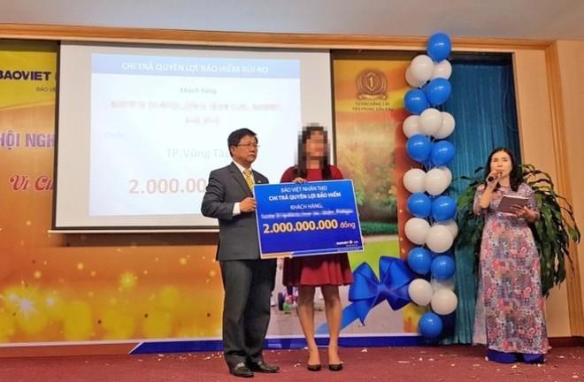 Bảo Việt Nhân thọ cho trả quyền lợi 2 tỷ đồng cho gia đình ông Andre