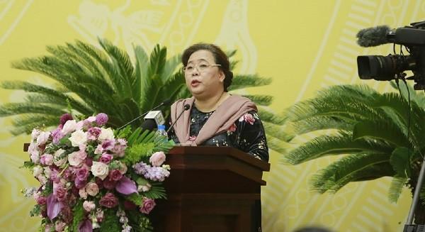 Chủ tịch HĐND TP Hà Nội Nguyễn Thị Bích Ngọc chủ trì phiên chất vấn