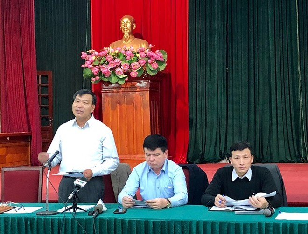 Phó Giám đốc Sở KH&ĐT Hà Nội Trần Ngọc Nam thông tin tại hội nghị giao ban báo chí