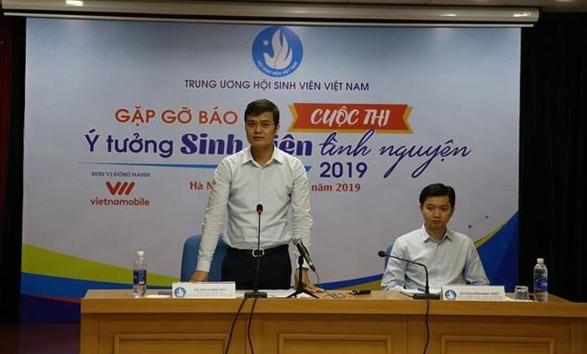 Anh Bùi Quang Huy, Bí thư Trung ương Đoàn, Chủ tịch Trung ương Hội Sinh viên Việt Nam phát biểu tại Hội nghị