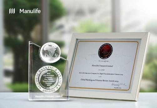 Manulife Việt Nam được Global Banking & Finance Review ghi nhận là Công ty BHNT tốt nhất về chuyển đổi số hóa tại Việt Nam năm 2019