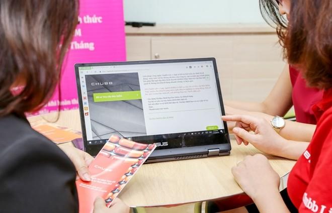 Với trang thông tin điện tử này, đại diện kinh doanh của Chubb Life Việt Nam có thể hỗ trợ khách hàng ở bất cứ đâu và bất cứ thời điểm nào