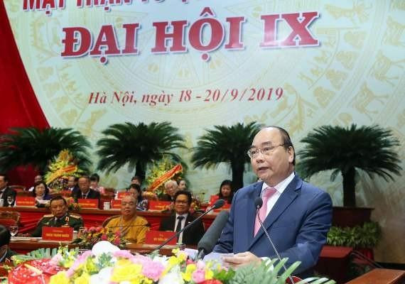 Thủ tướng Chính phủ Nguyễn Xuân Phúc phát biểu tại Đại hội Ảnh: Phú Khánh