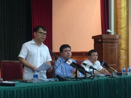 Phó Giám đốc Ban QLDA đầu tư xây dựng công trình văn hóa xã hội TP Hà Nội Nguyễn Ngọc Tường thông tin tại hội nghị